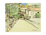 Street in Villefranche, c.1927 Giclee Print by George Leslie Hunter