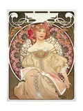 Reverie, 1897 ジクレープリント : アルフォンス・ミュシャ