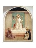 Christ Mocked in the Presence of the Virgin and Saint Dominic Giclée-vedos tekijänä  Fra Angelico