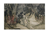 The Meeting of Oberon and Titania, 1905 Gicléetryck av Arthur Rackham