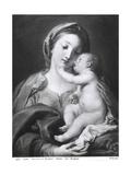 Madonna and Child, 1708 Giclée-tryk af Pompeo Batoni