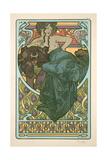 Plate 47 from 'Documents Decoratifs', 1902 Lámina giclée por Alphonse Mucha