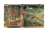 Effects of Good Government, c.1338 Giclée-tryk af Ambrogio Lorenzetti