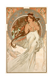 The Arts: Music, 1898 Gicléedruk van Alphonse Mucha