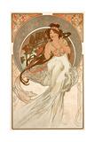 The Arts: Music, 1898 ジクレープリント : アルフォンス・ミュシャ