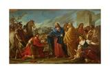 The Centurion Kneeling at the Feet of Christ Or, Jesus Healing the Son of an Officer, 1752 Giclée-Druck von Joseph-marie, The Elder Vien