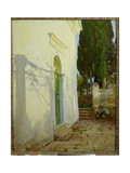 Shadows on a Wall in Corfu Giclée-tryk af John Singer Sargent