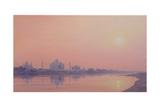 Sundown on the Yamuna Giclee Print by Derek Hare