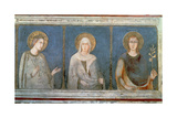 Five Saints, Detail of St. Elisabeth of Hungary, St. Clare and Another Saint Giclee Print by Simone Martini