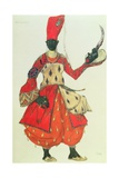 Eunuch Costume from 'Scheherazade' by Rimsky-Korsakov (Design) Reproduction procédé giclée par Leon Bakst