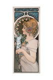 Feather, 1899 Gicléedruk van Alphonse Mucha