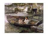 Little Cornish Fisherman (Polperro) Giclee Print by John Robertson Reid