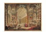 The Gallery of Cardinal Silvio Valenti-Gonzaga in Rome, 1749 Reproduction procédé giclée par Giovanni Paolo Pannini