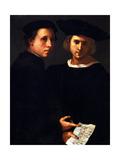 The Two Friends Giclée-tryk af Jacopo da Carucci Pontormo