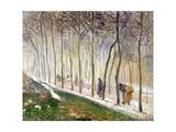 La Route, Effet Du Neige, 1879 Reproduction procédé giclée par Camille Pissarro
