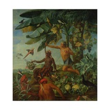 The Indian Hunter and Fisherman, 1741 Giclee Print by Alexandre-Francois Desportes