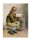 Little Boy Reading a Book Giclee Print by William Henry Hunt