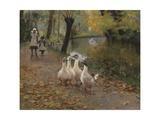 Goose Girls, 1885 Gicléetryck av Sir John Lavery