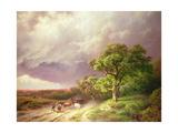 The Coming Storm Giclee-trykk av Barend Cornelis Koekkoek