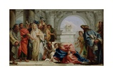 Christ and the Woman Taken in Adultery, 1750-53 Giclée-tryk af Giandomenico Tiepolo