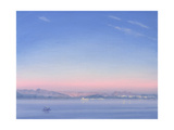 Dawn over Lake Piccola Giclee Print by Derek Hare