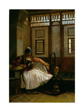 Arnaut Smoking Giclee Print by Jean Leon Gerome