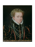 Portrait of Margaret, Duchess of Parma (1522-86), Regent of the Netherlands 1559-67 Giclee Print by Francois Clouet