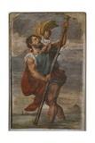 St. Christopher, 1523-24 Giclée-tryk af  Titian (Tiziano Vecelli)