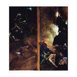 The Falling of the Damned into Hell Giclée-tryk af Hieronymus Bosch