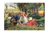 The Hireling Shepherd Giclee Print by William Holman Hunt