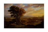 View of the Clyde from Faifley and Duntocher, Looking South West Towards Dunbarton Rock Giclee Print by John Knox