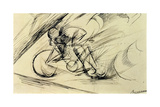 Dynamism of a Cyclist, 1913 Giclée-tryk af Umberto Boccioni