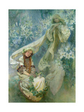 Madonna of the Lilies, 1905 Giclee Print by Alphonse Mucha