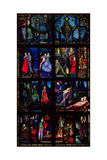 The Geneva Window, Eight Panels Depicting Scenes from Early Irish Literature, 1929 Giclée-tryk af Harry Clarke