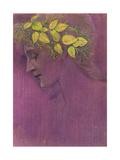 Girl's Head: a Fantasy, 1897 Reproduction procédé giclée par Edward Burne-Jones