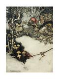 They Quaffed their Liquor in Profound Silence, 1905 Giclee Print by Arthur Rackham