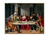 Måltidet i Emmaus Giclée-tryk af Vittore Carpaccio