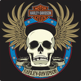 Harley-Davidson® - Spade Skull Embossed Tin Sign Placa de lata