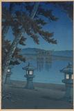 Moonlit Night in Miyajima Gicléetryck av Kawase Hasui