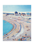 Barbecue on Chesil Beach, 2010 Giclee Print by Liz Wright