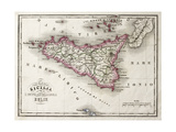 An Old Map Of Sicily And Little Islands Around It Posters by  marzolino