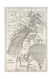 Alberta And Victoria Lakes Region Old Map, Nil River South Of Gondokoro Poster af  marzolino