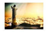 Famous Statue Of The Christ The Reedemer, In Rio De Janeiro, Brazil Poster di  Satori1312