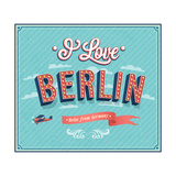 Vintage Greeting Card From Berlin - Germany ポスター :  MiloArt