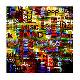 Art Urban Graffiti Raster Background Poster von Irina QQQ
