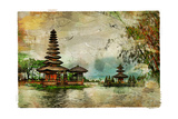 Mysterious Balinese Temples, Artwork In Painting Style Posters por  Maugli-l