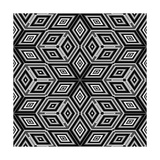 Seamless Black And White 3D Cubes Illustration - Escher Style Prints by  Kamira