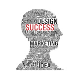 Marketing Success Head Communication Prints by  cienpies