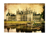 Chambord Castle - Artistic Retro Styled Picture Prints by  Maugli-l