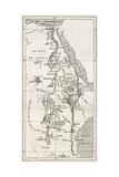 Nile Basin Old Map. By Unidentified Author, Published On Le Tour Du Monde, Paris, 1867 Láminas por  marzolino